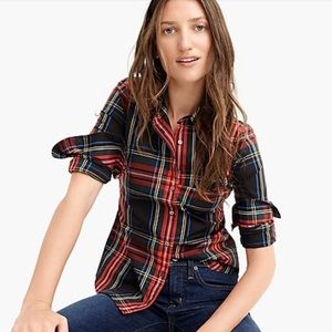 NWT J. Crew Slim Stretch Perfect Tartan Buttondown